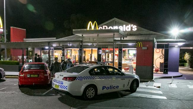 The assault took place just after midnight on Parramatta Road at Croydon McDonald's.