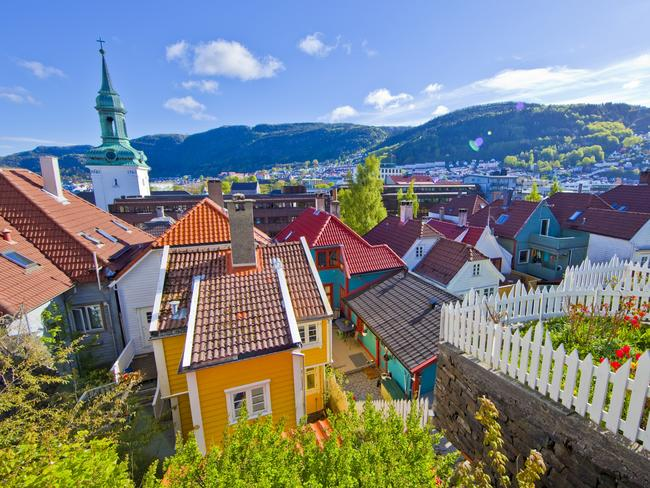 The colourful houses of picture-perfect Bergen.