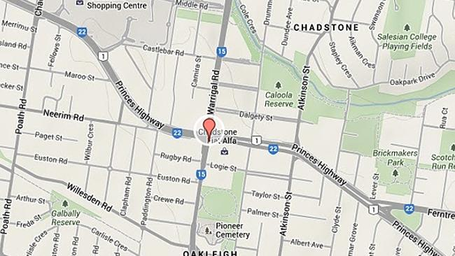 The two car collision occurred in Oakleigh.