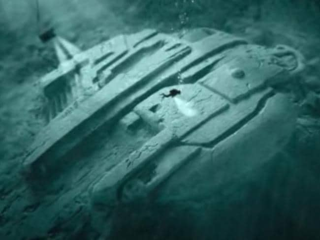 """Baltic Sea Anomaly"" ... artist Tod Twentytod's graphic depiction of the object. Picture: sonofmabarker/YouTube"