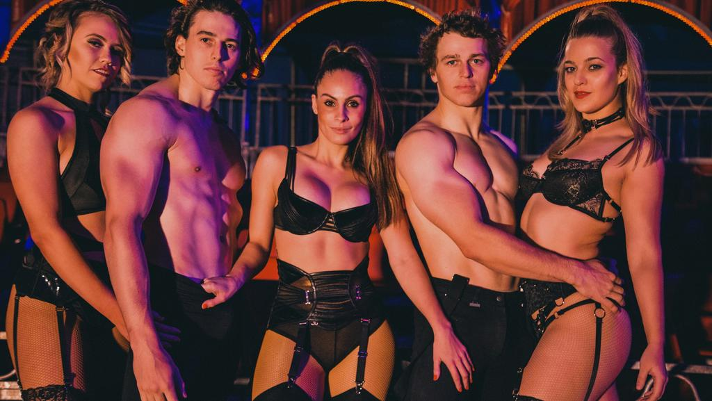 Cast of new circus and cabaret show Infamous. Picture: Supplied