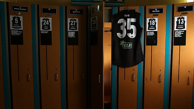 Port Adelaidewill leaveJohn McCarthy's locker empty for the entire 2013 AFL football season - and retire his number 35 guernsey for a year.