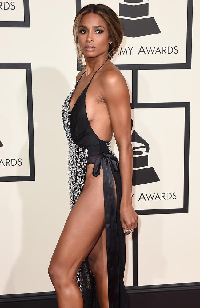 Ciara arrives at the 58th annual Grammy Awards. Picture: Jordan Strauss/Invision/AP