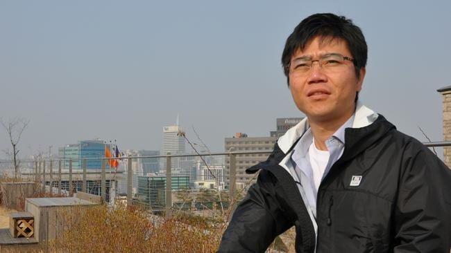 Ji Seong-Ho at Dongguk University in Seoul in 2012. Picture: Supplied