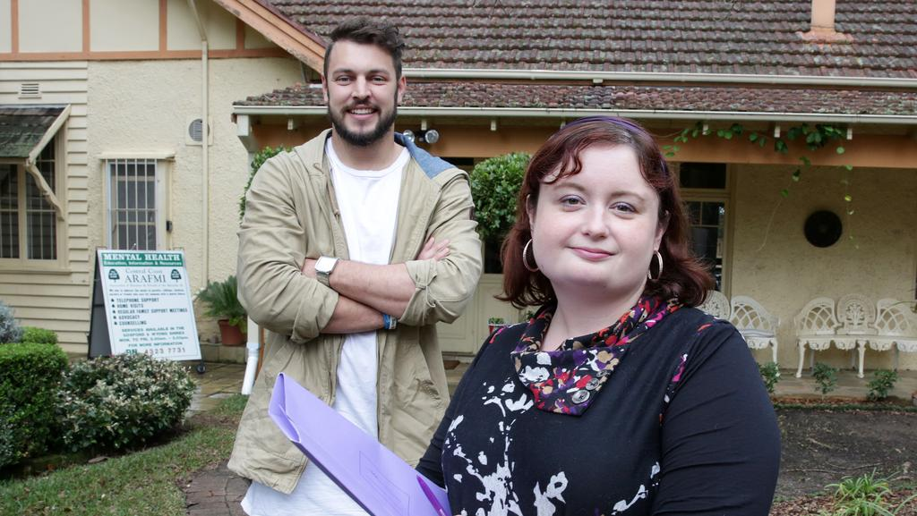 Erin Higgins and Blake McGee have set up a special support group for young people suffering from mental illness. Picture by Mark Scott