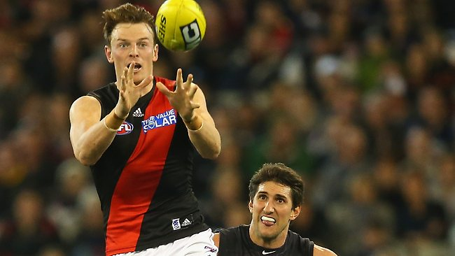 Bomber Brendon Goddard in action against Carlton. Picture: Getty
