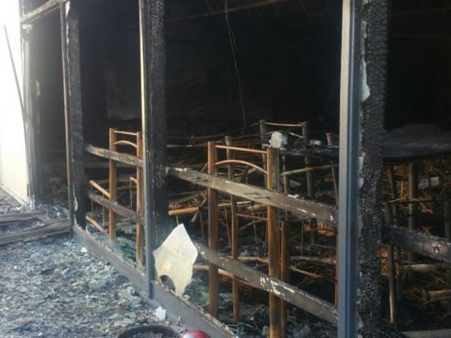 Damage to Premier Hotel after the fire. Picture: ABC News Kendall O'Connor