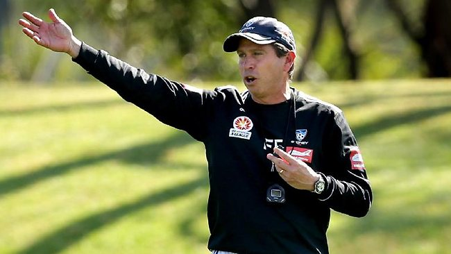 Pressure is already building on Sydney FC coach Frank Farina. Picture: Gregg Porteous