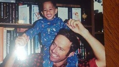 Chris Remkes says he owes everything to his parents. Chris with his dad Mike as a youngster: Photo: (@chrisremkes1) Instagram