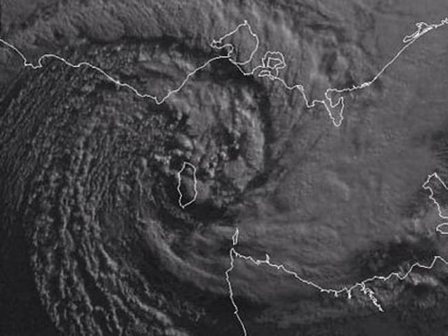 This swirling beast was responsible for yesterday's destruction in Melbourne. Picture: Supplied