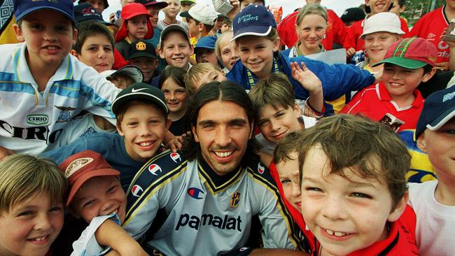 Gianluigi Buffon with fans early on during his career.