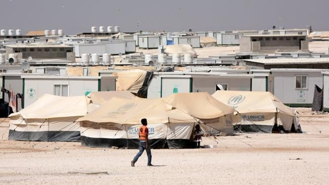 The Za'atari refugee camp in Jordan.