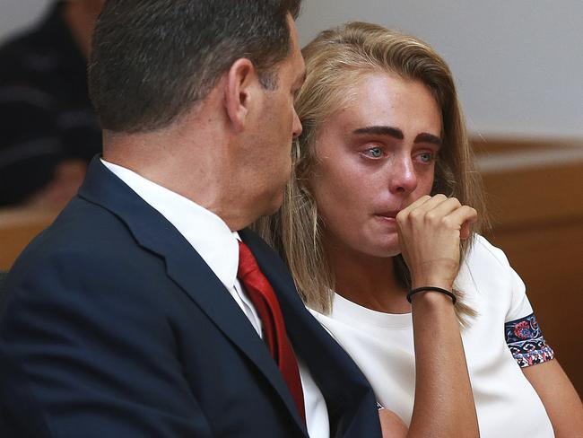 Michelle Carter was jailed for two-and-a-half years over her role in the death of her boyfriend. Picture: Matt West/The Boston Herald via AP