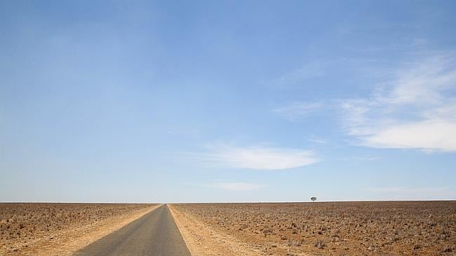 The wide brown land, drought in the channel country near Tambo. Photo: Liam Kidston.