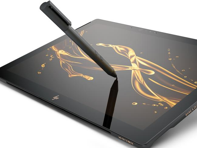 The HP Spectre X2 is a convertible tablet computer with a sophisticated design.