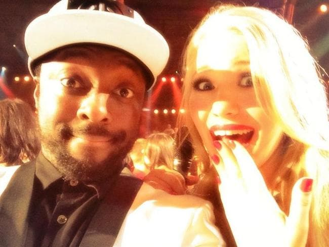 High hopes ... will.i.am with The Voice 2014 winner Anja Nissen. Picture: Twitter