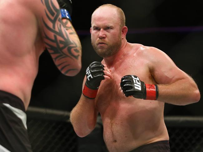 Ed Herman faces Tim Boetsch in their light heavyweight bout during UFC Fight Night 81.