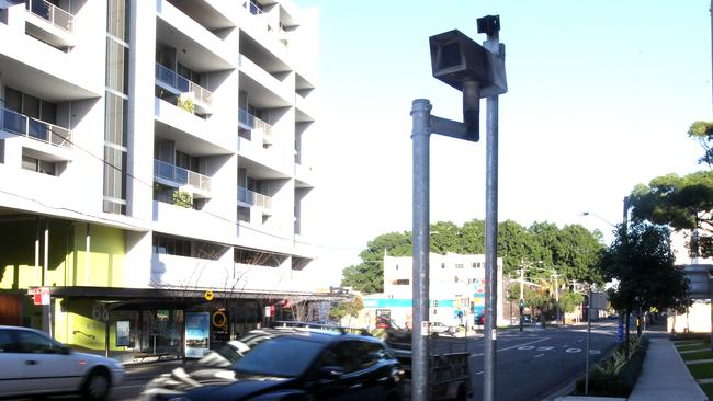 The camera that works the McEvoy St and Botany Rd Waterloo intersection