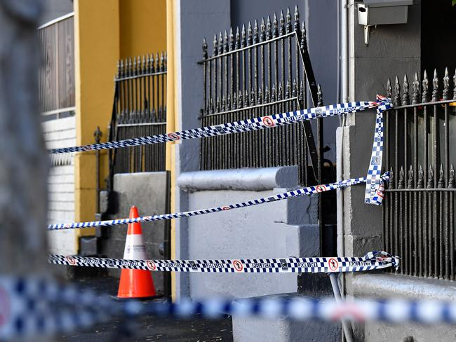 Police searched a home in Surry Hills connected to a terror plot to bring down a plane. Picture: AAP.