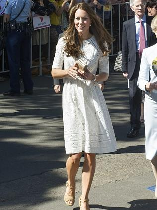 Finally! Kate wears Aussie frock