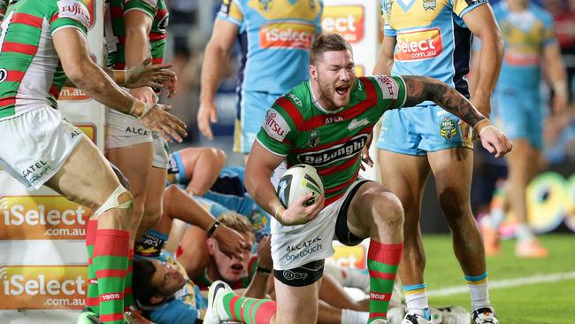 The Rabbitohs are expecting more out of backrow forward Chris McQueen. Pics Adam Head