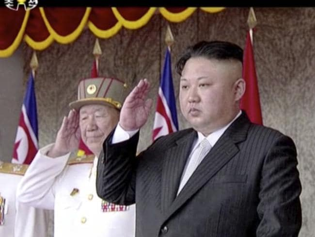 NORTH Korea has accused America's CIA of a conspiring with South Korean to kill their 'Supreme Commader' Kim Jong-un. Picture: AP