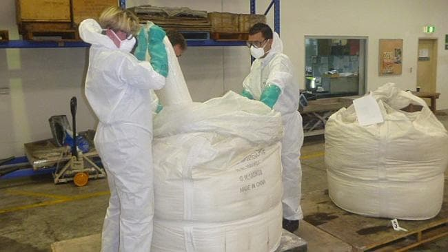 "Australia's largest ""ice"" seizure of 585 kilograms of methamphetamine worth $438 million in Sydney. Picture: ACBPS"