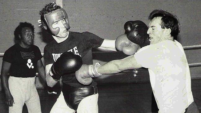 The Man would not be the only PM with a boxing background. Tony Abbott pictured sparring at Oxford University Amateur Boxing ...