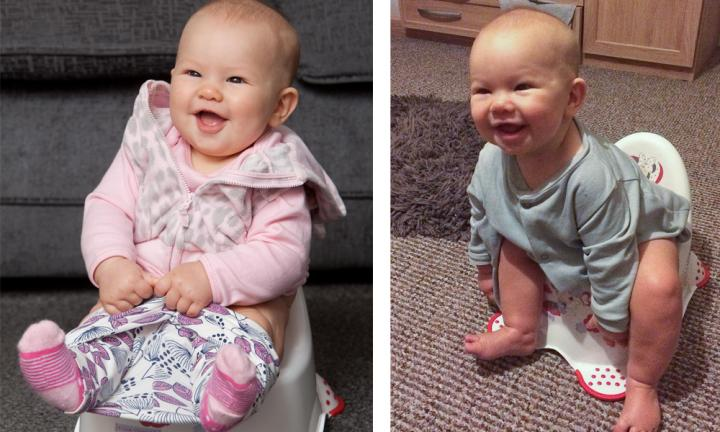 Meet little Emily-Rose who was toilet trained at just five months old
