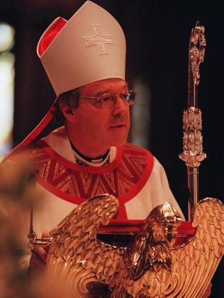 The Archbishop at a 1998 Melbourne funeral.