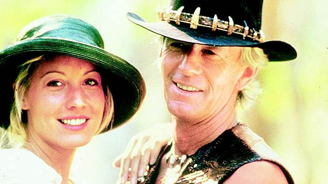 ACTOR Paul Hogan met his future wife, Linda Kozlowski on the set of Crocodile Dundee. Picture: Supplied annettepics