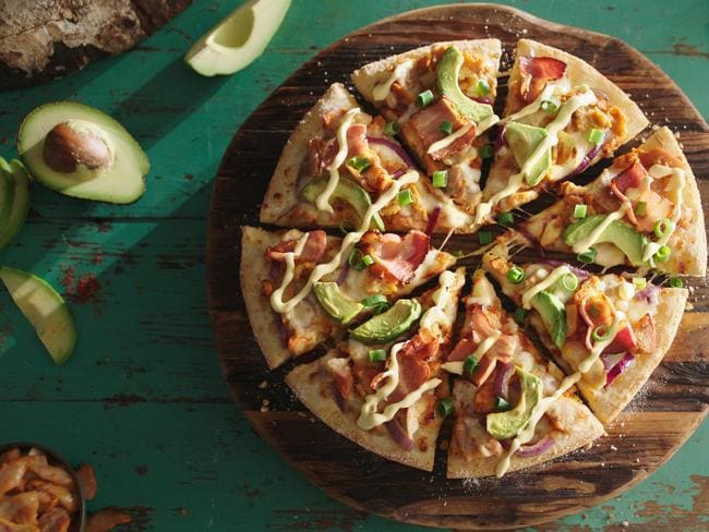 Domino's is adding avocado-topped pizzas to its new Free Your Flavour menu. Picture: Domino's