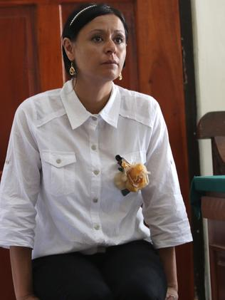 In court ... Leeza Ormsby listens towitnesses giving evidence for her case.