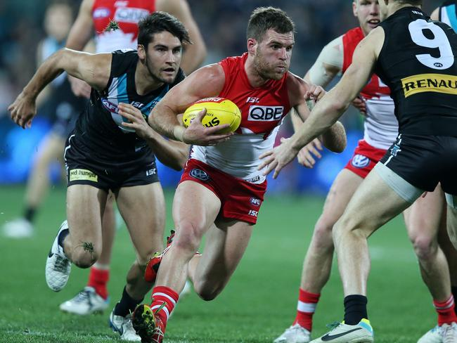 Sydney's Ben McGlynn continues to improve with each game. Picture: Sarah Reed
