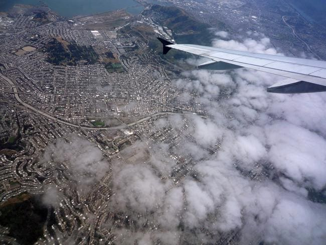 "Flying over San Francisco. Picture: Jessica ""The Hun"" Reeder"