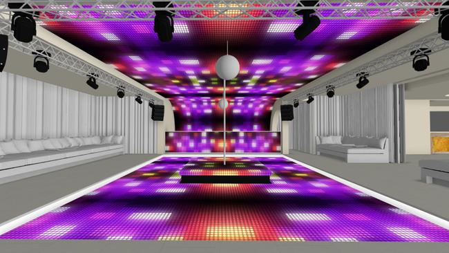 An artist's impression of the underground nightclub.