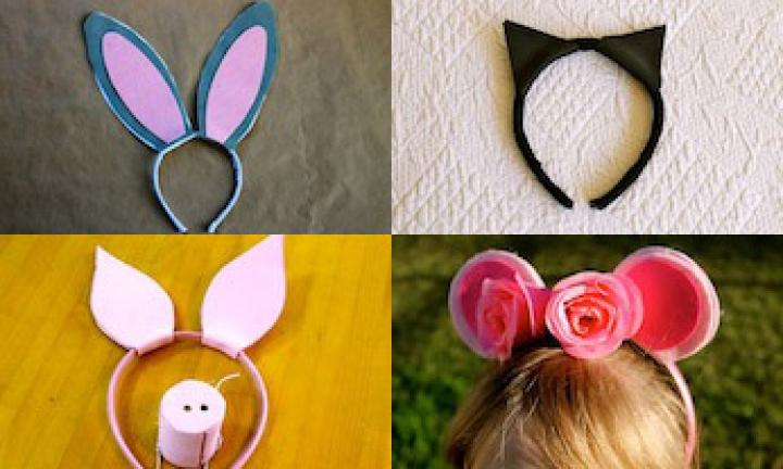 Make your own animal ears headbands kidspot make your own animal ears headbands pronofoot35fo Images