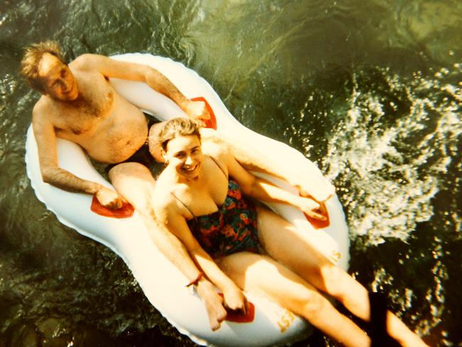 Susan Neill-Fraser with Bob Chappell on holiday in Bali in the late 1990s, a decade before he vanished from her yacht and the nightmare began.