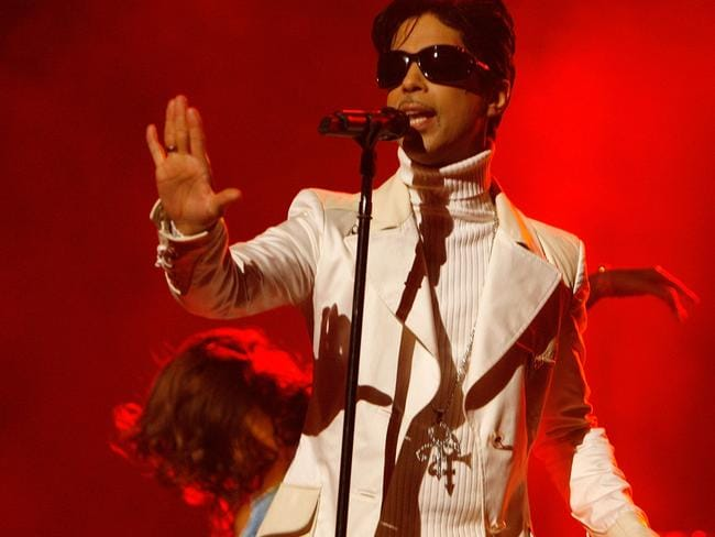 Prince performs onstage during the 2007 NCLR ALMA Awards held in Pasadena, California in 2007. Picture: Kevin Winter/Getty Images for NCLR
