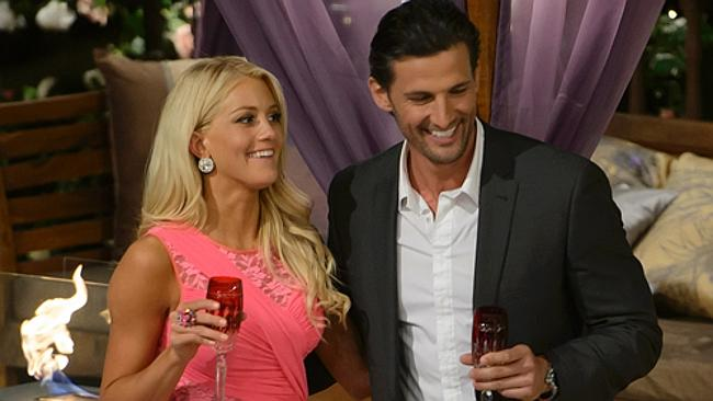 Tim Robards with one of the contenders, Ali. Picture: Channel Ten