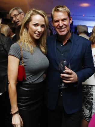 Shane Warne and Emily Scott weren't shy about being together.