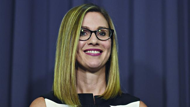 eSafety Commissioner Julie Inman Grant spoke to the Senate Estimates Committee today. Picture: AAP Image/Lukas Coch