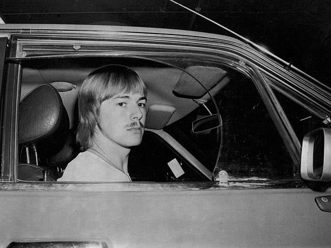 Nicholas Humphries with Linda's car, which was found abandoned at Fitzroy Falls.