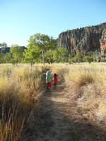 PARKS FOR PEOPLE: Brothers Kael and Rusty, two and four, at Winjana Gorge. Picture: Sarah McGowan
