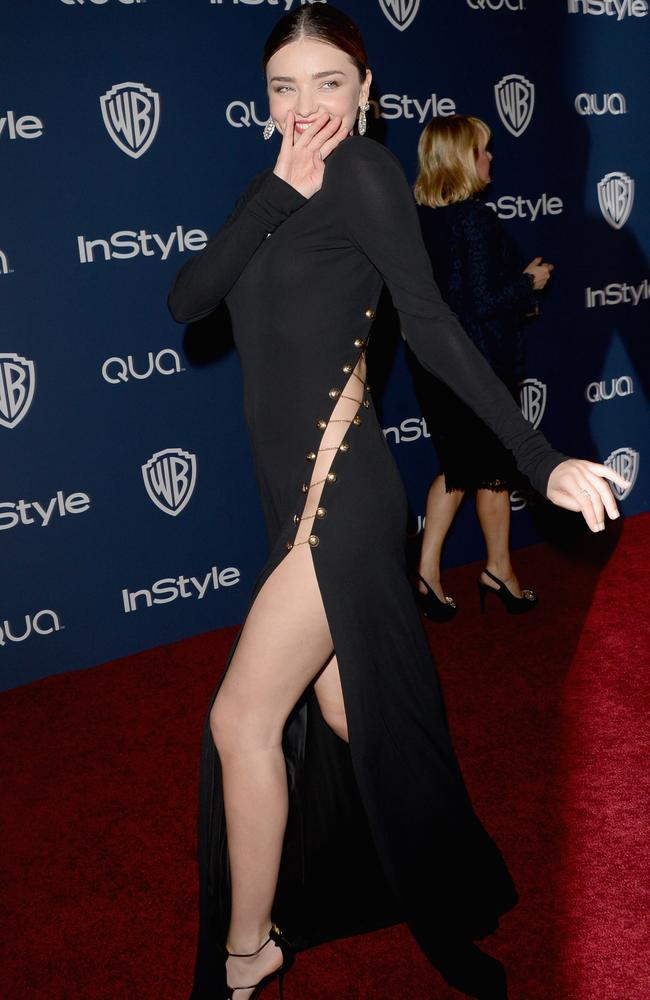 Model Miranda Kerr attends the 2014 InStyle and Warner Bros. 71st Annual Golden Globe Awards Post-Party on January 12, 2014 in Beverly Hills, California. Picture: Jason Merritt/Getty Images
