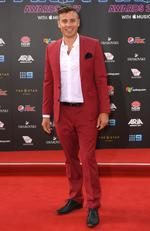 James Tobin arrives on the red carpet at the 31st ARIA Awards at The Star in Sydney, November 28, 2017. Picture: AAP