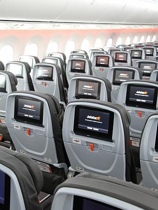 Jetstar's Boeing 787 features seat-back screens for every economy passenger.