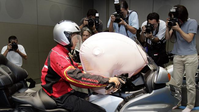 The Honda Goldwing airbag was big news when introduced in 2005. Picture: Supplied.