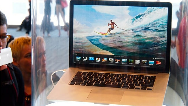The new MacBook Pro in all its glory. Picture: Jen Dudley-Nicholson