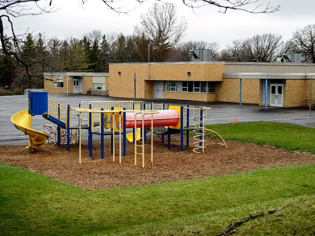 Training ground ... bombs were allegedly found in March at Hartley Elementery School playground in Waseca.